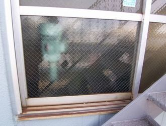 横浜市 港北区 ガラス修理  ☆S工業様サムネイル